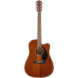 Fender CD-60SCE Mahogany Acoustic Guitar with Cutaway & Pickup Walnut Fingerboard