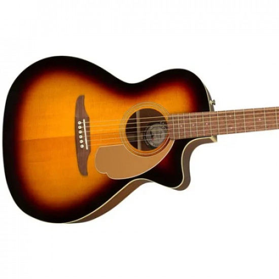 Fender Newporter California Player Series Acoustic Guitar with Walnut Fingerboard Sunburst