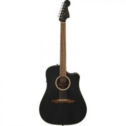Fender Redondo California Player Series Left Hand Acoustic Electric Guitar Black