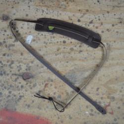 Ukulele Strap Brown Leather Adjustable Slide