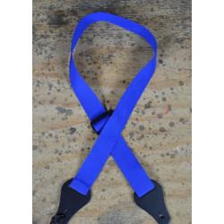 Ukulele Strap Plain Blue Webbing