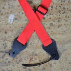 Ukelele Strap Plain Red Webbing