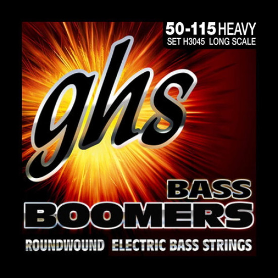 GHS Bass Boomers Heavy Roundwound Electric Bass Strings 50-115 Long Scale