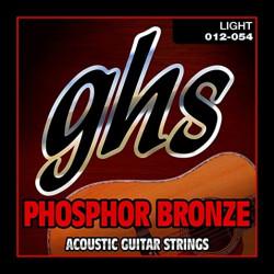 GHS Phosphor Bronze 6-String Light Acoustic Guitar Strings (12-54)