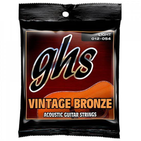 GHS Vintage Bronze Acoustic Guitar Strings