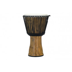 Pearl 12″ Roped Tuned Synthetic Shell Djembe - Zebra Grass