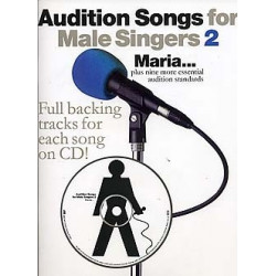 Audition Songs for Male Singers 2 Book and CD