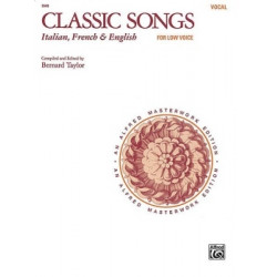 Classic Songs Italian, French & English for Low Voice