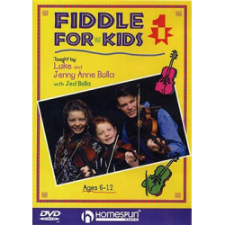 Fiddle for Kids DVD taught by Luke and Jenny Anne Bulla Ages 6-12