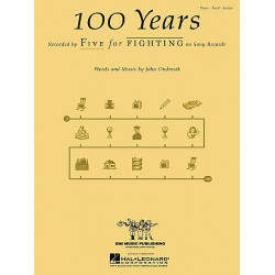 100 Years Single Sheet Print Music by Five for Fighting