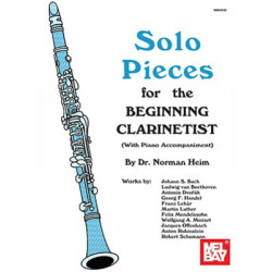 Solo Pieces for the Beginning Clarinetist Mel Bay