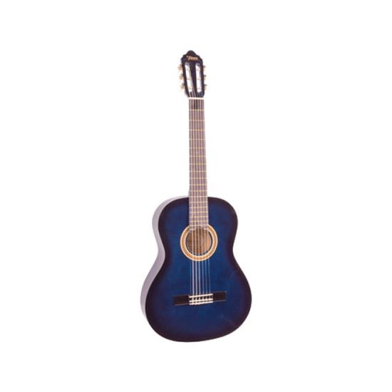 Valencia 1/2 Size Classical Guitar Gloss Blue Sunburst
