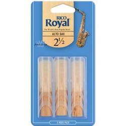 Rico Royal Reeds Alto Sax 3 pack 2.5