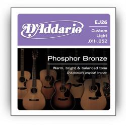 D'Addario EJ26 Phosphor Bronze Strings