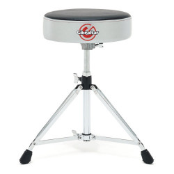 Gibraltar 6608RSG Drum Throne Stool Double Braced Round Style Grey Silver Finish