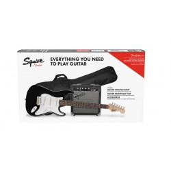 Fender Squier Stratocaster® Pack, Laurel Fingerboard, Black, Gig Bag, 10G - 240V AU