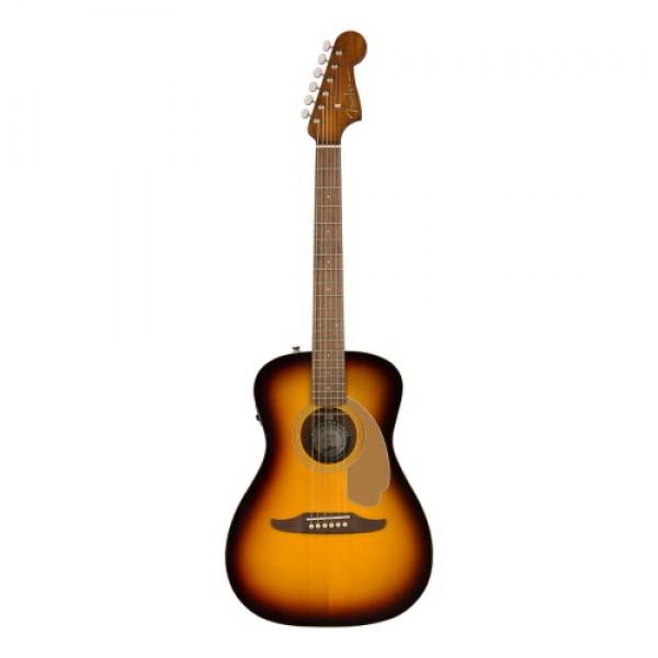 Fender Malibu Player Acoustic Electric Guitar with Walnut Fingerboard in Sunburst