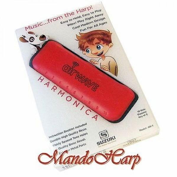 Suzuki Airwave harmonica AW-1 Red