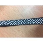 Ukulele Strap Black & White Poly
