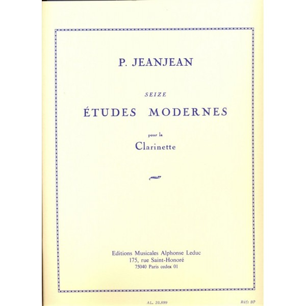 16 Modern Etudes for Clarinet