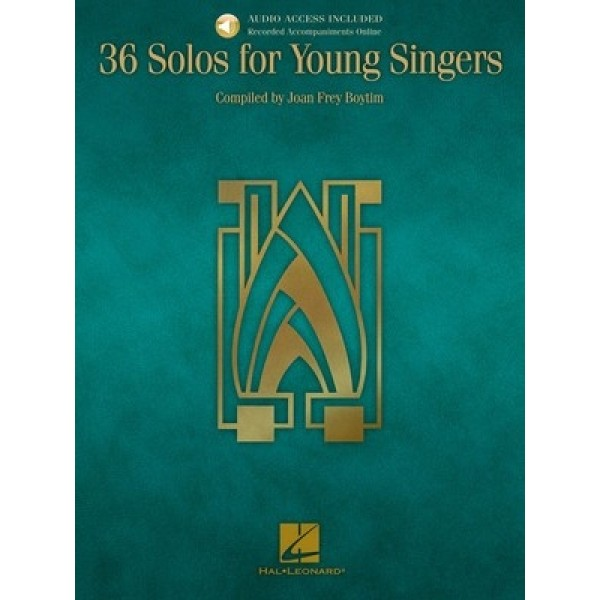 36 Solos for Young Singers Book and CD