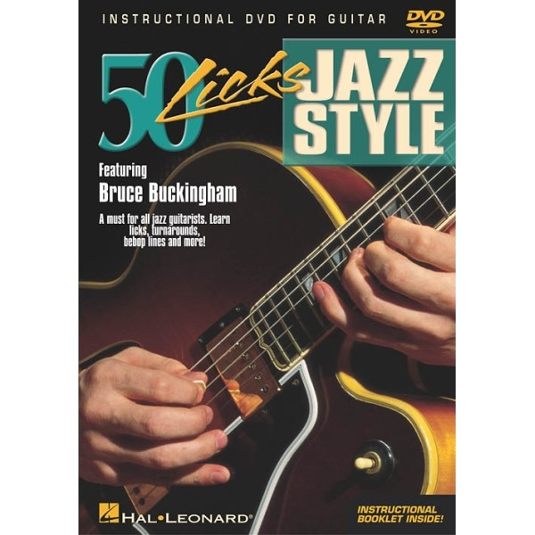 50 Licks Jazz Style for Guitar DVD featuring Bruce Buckingham