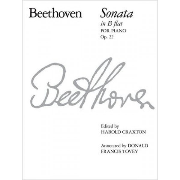 Beethoven Sonata in B Flat Op 22 for Piano
