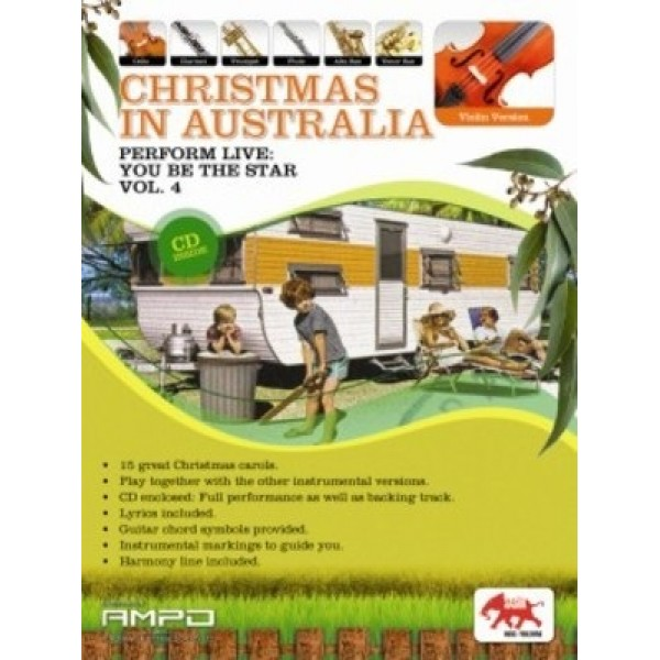 Christmas In Australia Volume 4 Violin Book and CD