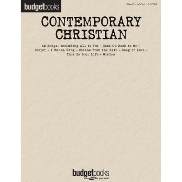 Contemporary Christian Budget Books PVG