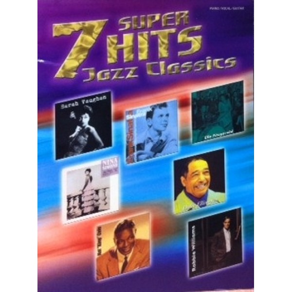 7 Super Hits Jazz Classics Print Album Piano Vocals Guitar