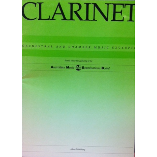 AMEB Clarinet Orchestral and Chamber Music Excerpts