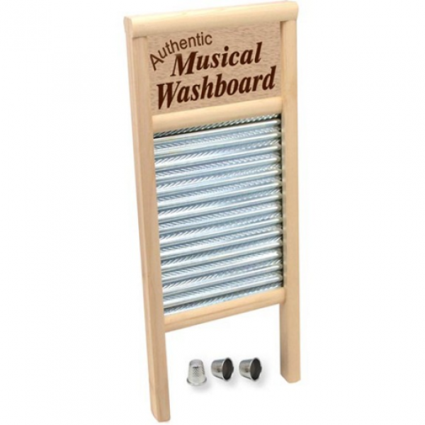 Authentic Musical Washboard plus three thimbles
