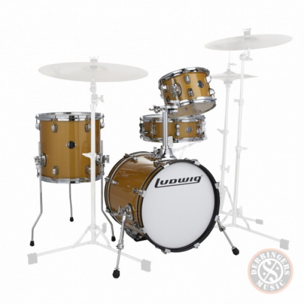 Ludwig Breakbeats 4 Piece Shell Pack Gold Sparkle
