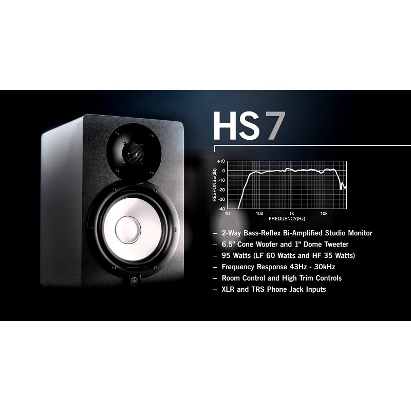 yamaha hs7 studio monitors each. Black Bedroom Furniture Sets. Home Design Ideas